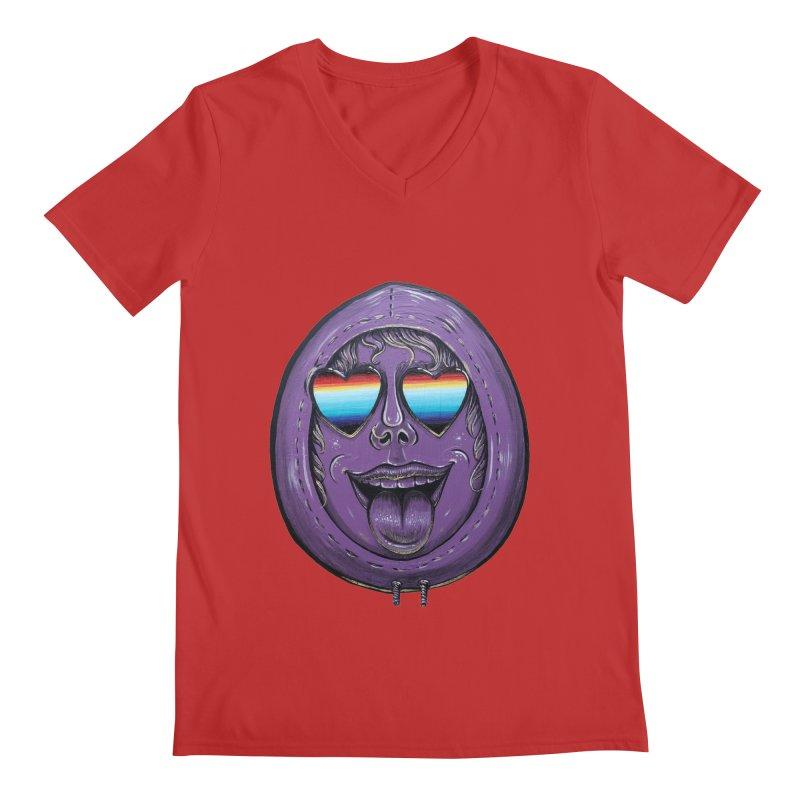 Zombie Mouth Men's Regular V-Neck by Stiky Shop