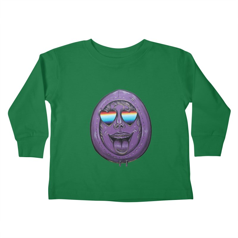 Zombie Mouth Kids Toddler Longsleeve T-Shirt by Stiky Shop
