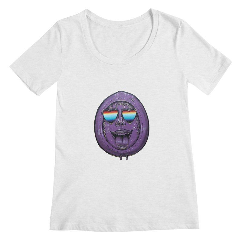 Zombie Mouth Women's Regular Scoop Neck by Stiky Shop