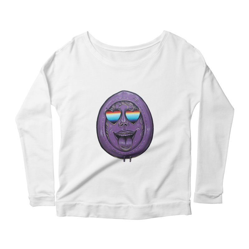 Zombie Mouth Women's Scoop Neck Longsleeve T-Shirt by Stiky Shop