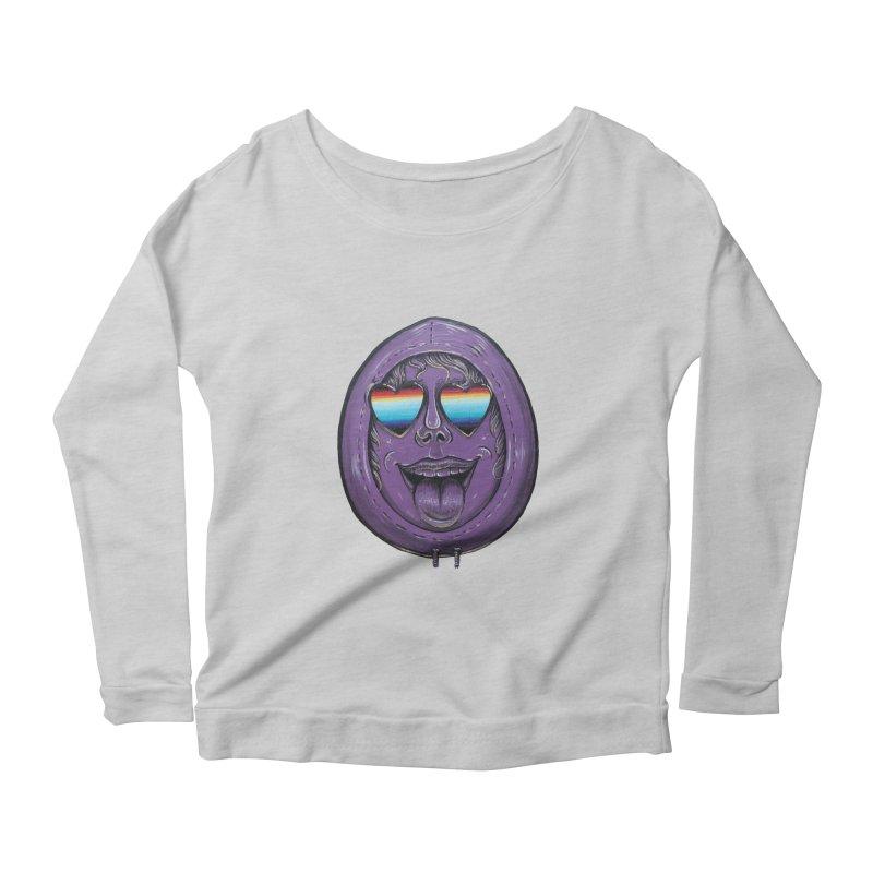 Zombie Mouth Women's Scoop Neck Longsleeve T-Shirt by Stiky Shop