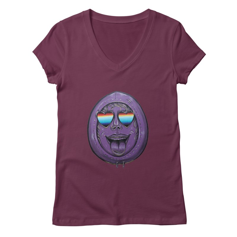 Zombie Mouth Women's Regular V-Neck by Stiky Shop