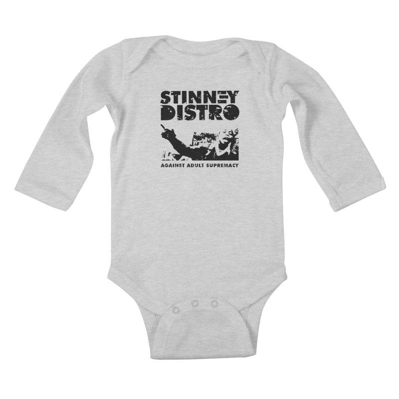 Against Adult Supremacy Kids Baby Longsleeve Bodysuit by STINNEY DISTRO