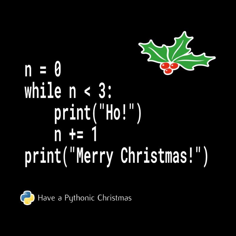 Funny Christmas Xmas Python Code -  Ho! Ho! Ho! by stíobhart's shack