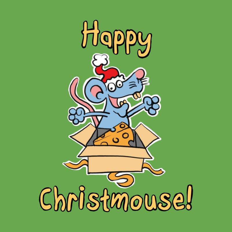Happy Christmouse! - Cute Cartoon Christmas Mouse by stíobhart's shack