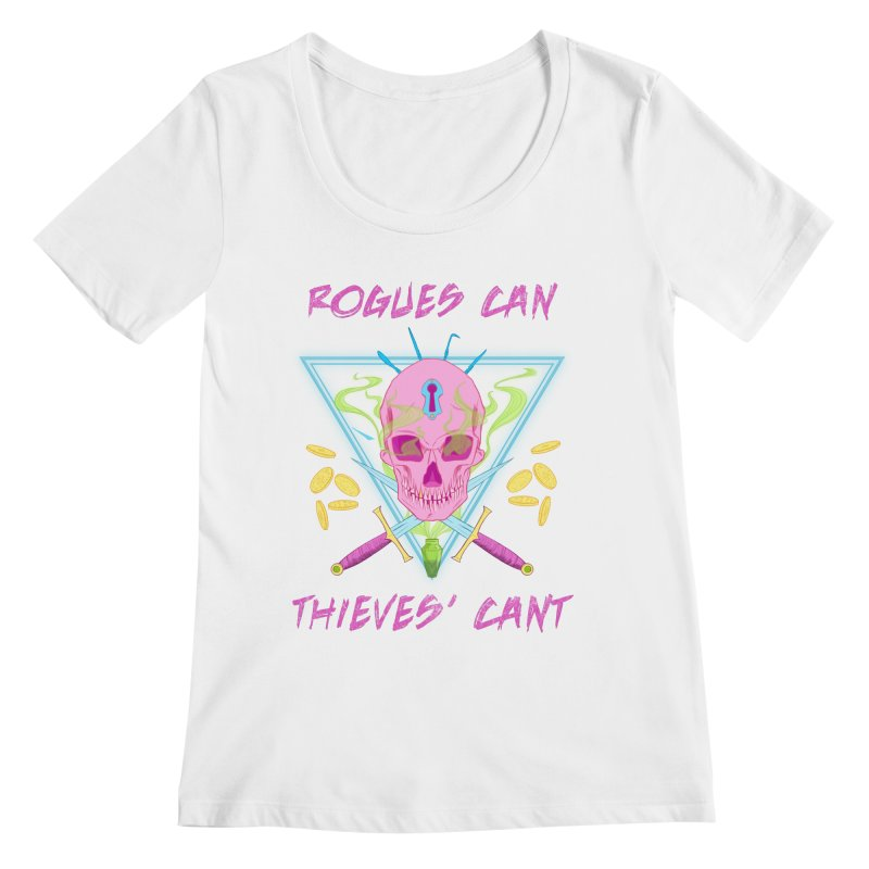 Thieves' Cant - Color Women's Regular Scoop Neck by Stirvino Lady's Artist Shop