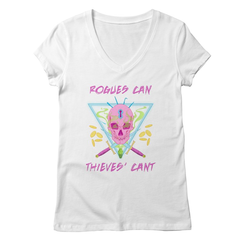 Thieves' Cant - Color Women's V-Neck by Stirvino Lady's Artist Shop