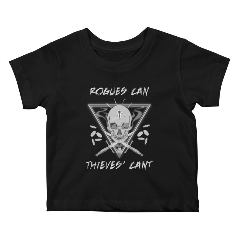 Thieves' Cant - B&W Kids Baby T-Shirt by Stirvino Lady's Artist Shop