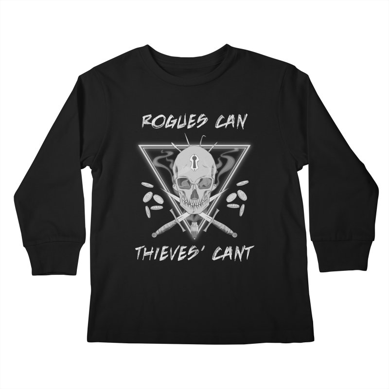 Thieves' Cant - B&W Kids Longsleeve T-Shirt by Stirvino Lady's Artist Shop