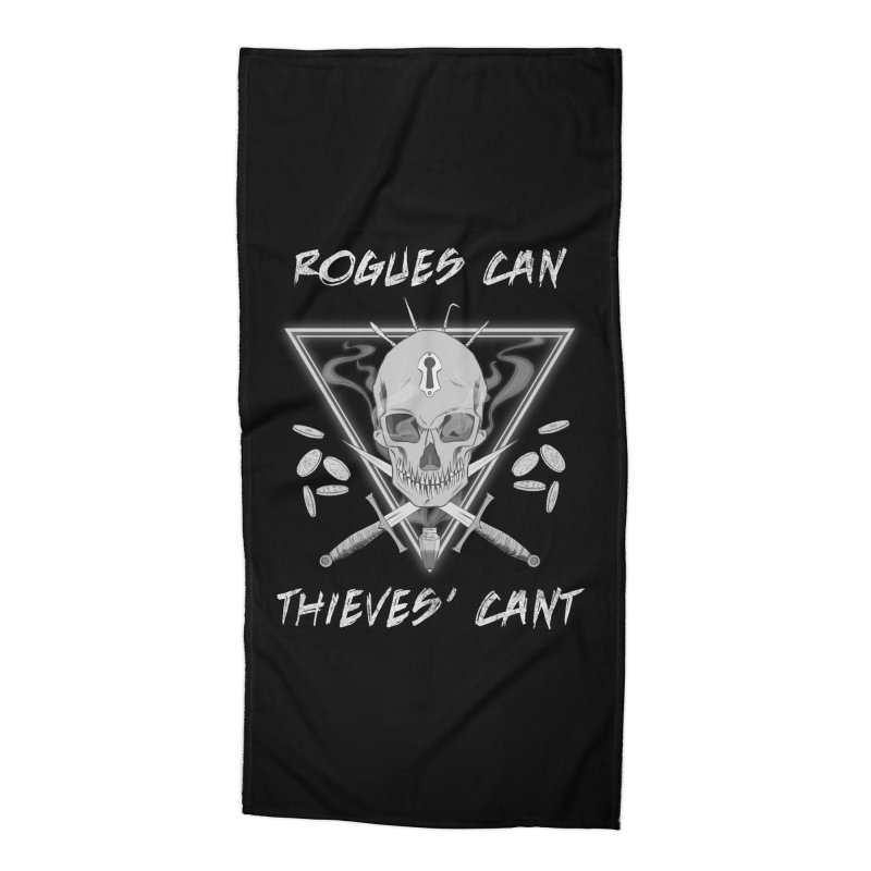 Thieves' Cant - B&W Accessories Beach Towel by Stirvino Lady's Artist Shop