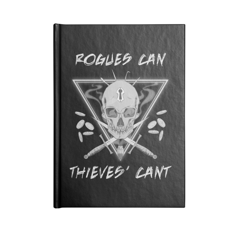 Thieves' Cant - B&W Accessories Lined Journal Notebook by Stirvino Lady's Artist Shop