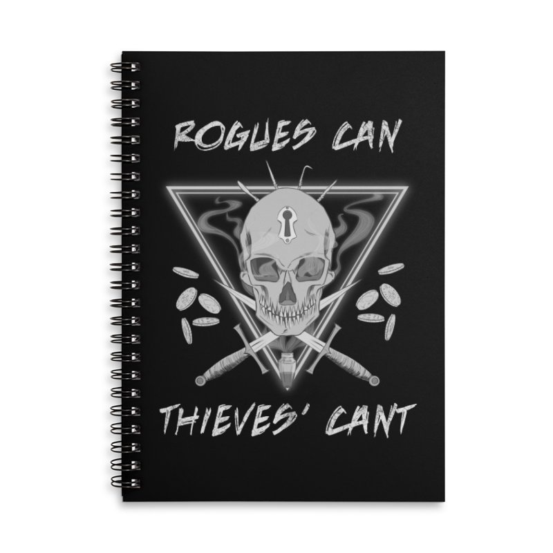 Thieves' Cant - B&W Accessories Lined Spiral Notebook by Stirvino Lady's Artist Shop