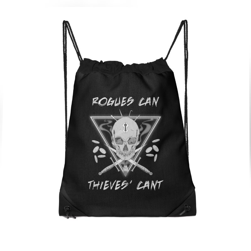 Thieves' Cant - B&W Accessories Drawstring Bag Bag by Stirvino Lady's Artist Shop