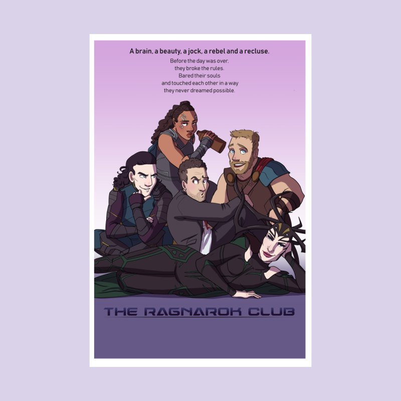 The Ragnarok Club Home Throw Pillow by Stirvino Lady's Artist Shop