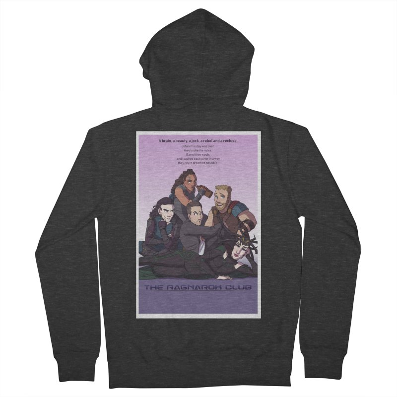 The Ragnarok Club Men's French Terry Zip-Up Hoody by Stirvino Lady's Artist Shop