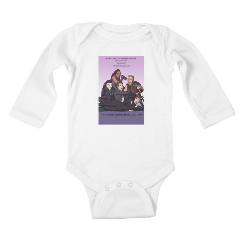 The Ragnarok Club Kids Baby Longsleeve Bodysuit by Stirvino Lady's Artist Shop