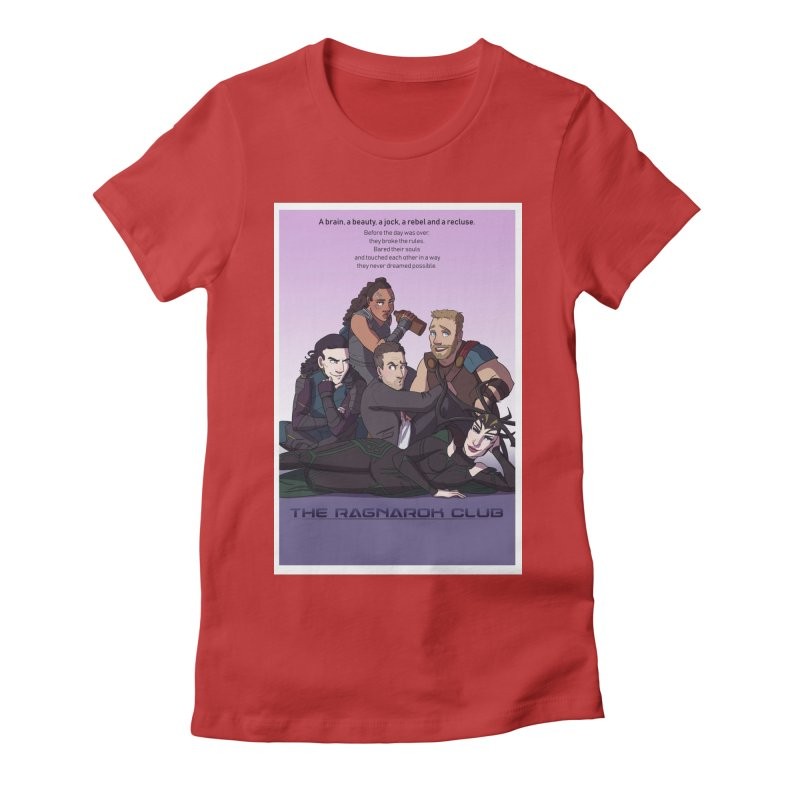 The Ragnarok Club Women's Fitted T-Shirt by Stirvino Lady's Artist Shop
