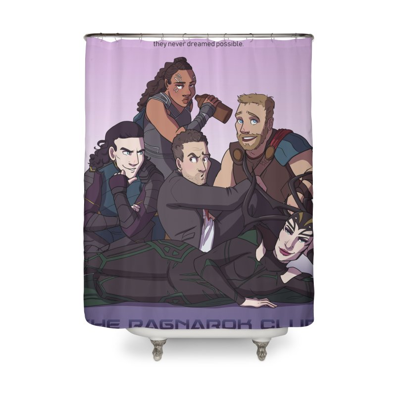 The Ragnarok Club Home Shower Curtain by Stirvino Lady's Artist Shop