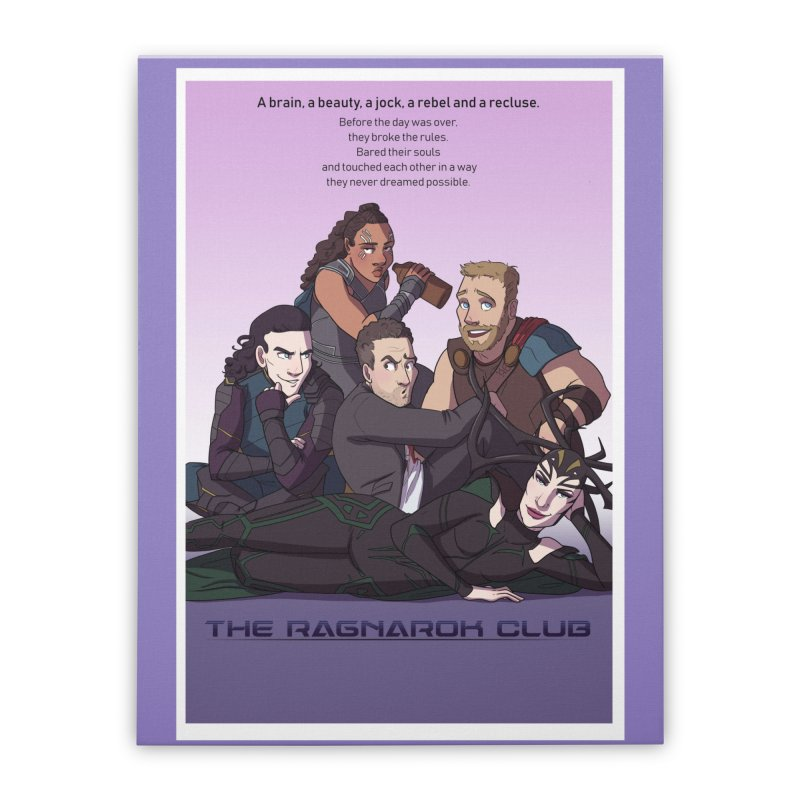 The Ragnarok Club Home Stretched Canvas by Stirvino Lady's Artist Shop