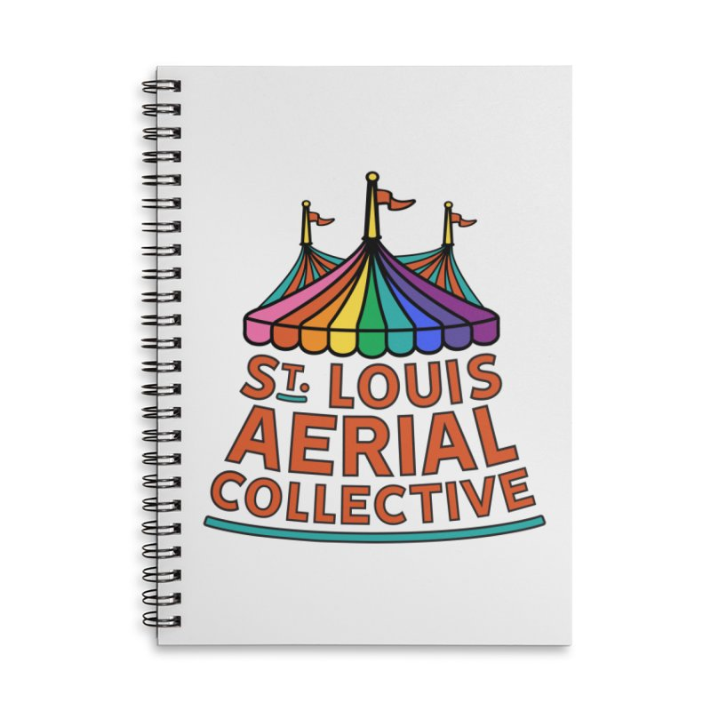 Color Rainbow Logo Accessories Lined Spiral Notebook by St. Louis Aerial Collective