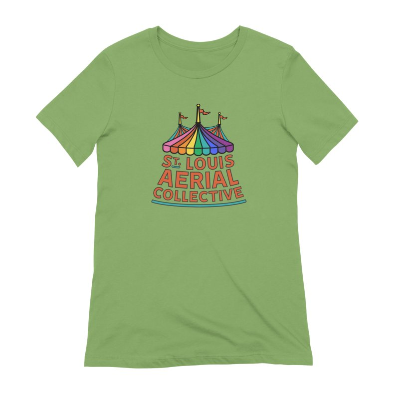 Color Rainbow Logo Women's Extra Soft T-Shirt by St. Louis Aerial Collective