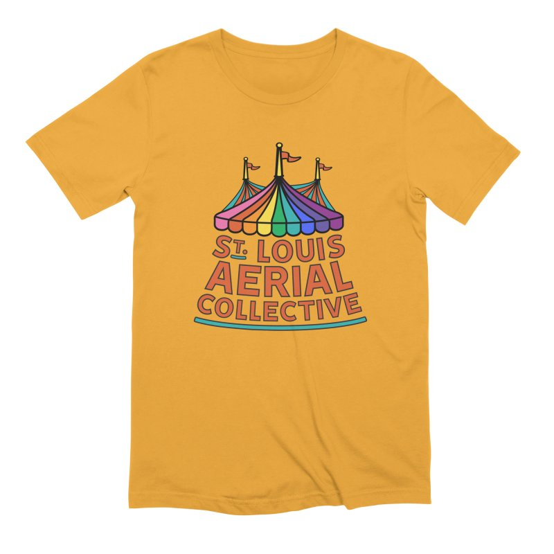Color Rainbow Logo Men's Extra Soft T-Shirt by St. Louis Aerial Collective