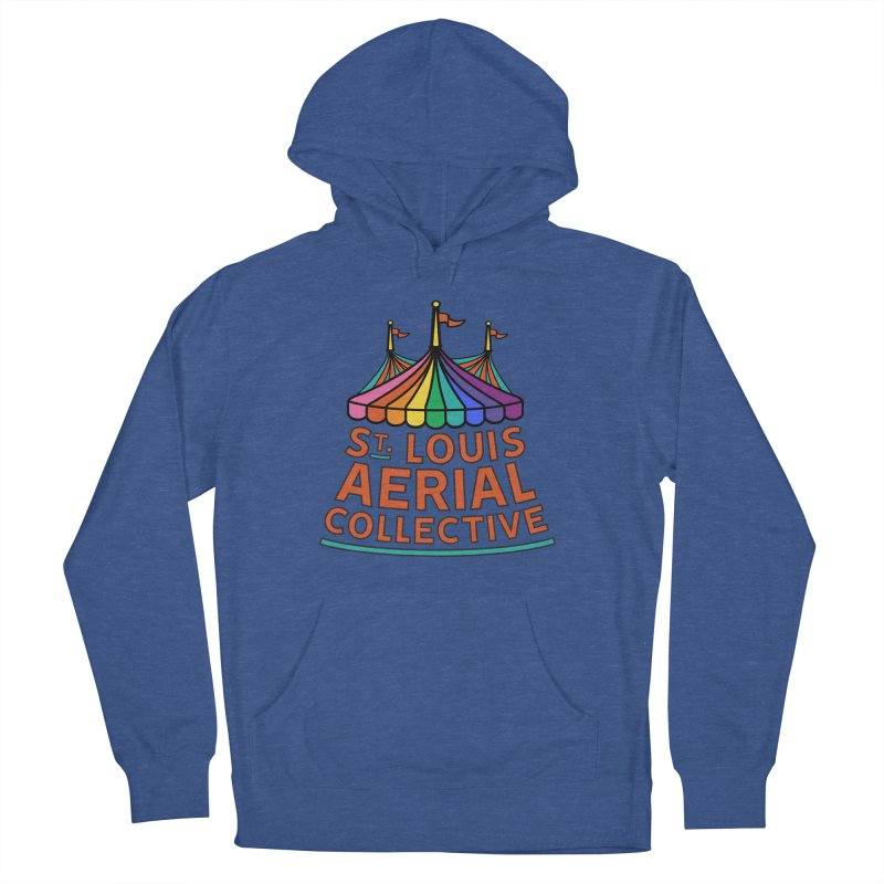 Color Rainbow Logo Men's French Terry Pullover Hoody by St. Louis Aerial Collective