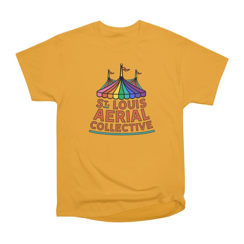 Color Rainbow Logo Men's Heavyweight T-Shirt by St. Louis Aerial Collective