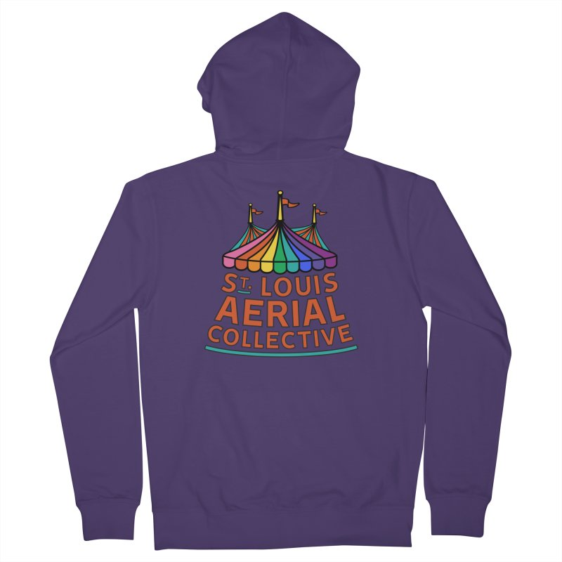 Color Rainbow Logo Women's French Terry Zip-Up Hoody by St. Louis Aerial Collective