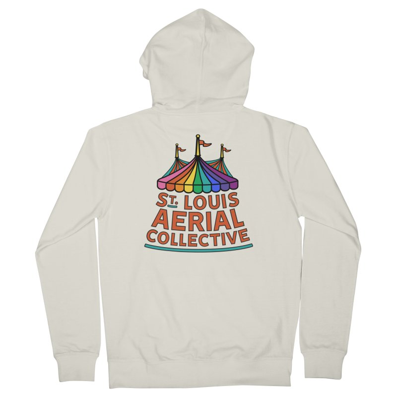 Color Rainbow Logo Men's French Terry Zip-Up Hoody by St. Louis Aerial Collective