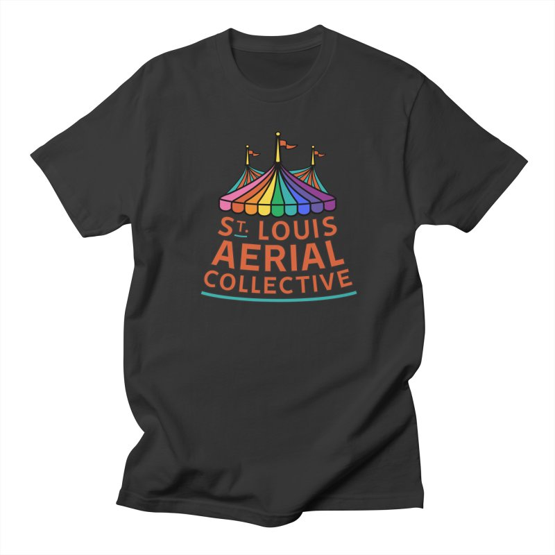 Color Rainbow Logo Men's T-Shirt by St. Louis Aerial Collective