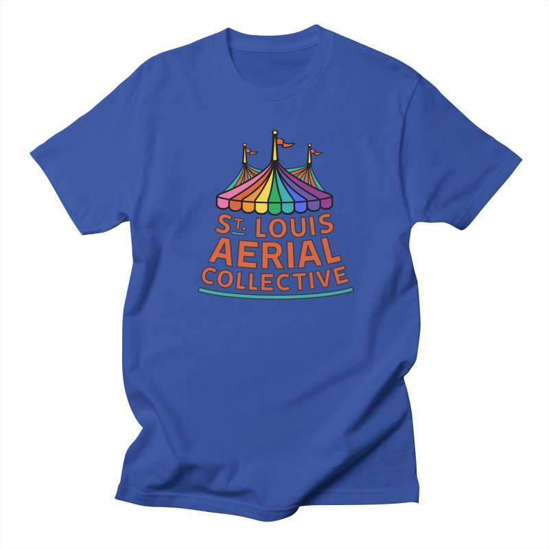 Color Rainbow Logo Men's Regular T-Shirt by St. Louis Aerial Collective