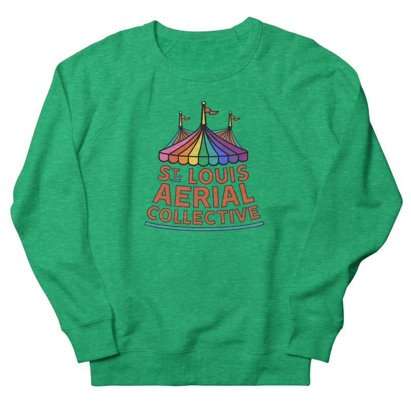 Color Rainbow Logo Women's Sweatshirt by St. Louis Aerial Collective