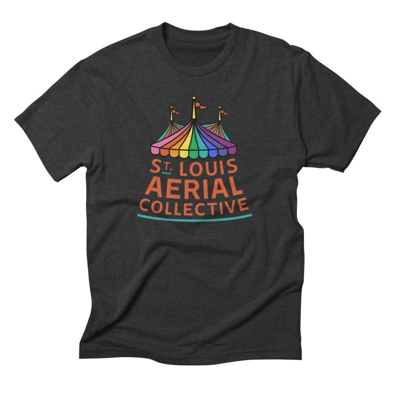 Color Rainbow Logo Men's Triblend T-Shirt by St. Louis Aerial Collective