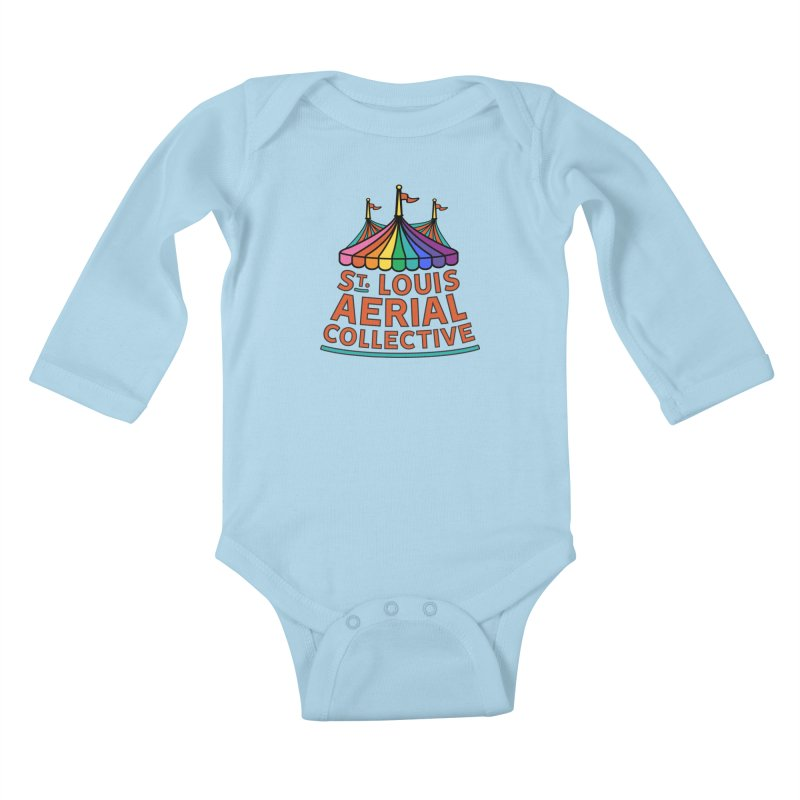 Color Rainbow Logo Kids Baby Longsleeve Bodysuit by St. Louis Aerial Collective
