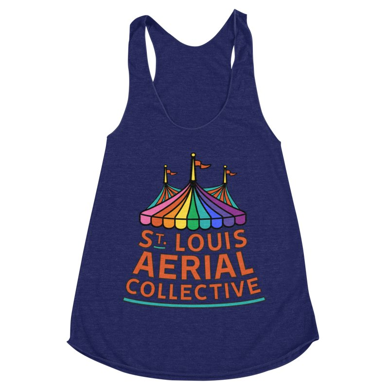 Color Rainbow Logo Women's Racerback Triblend Tank by St. Louis Aerial Collective
