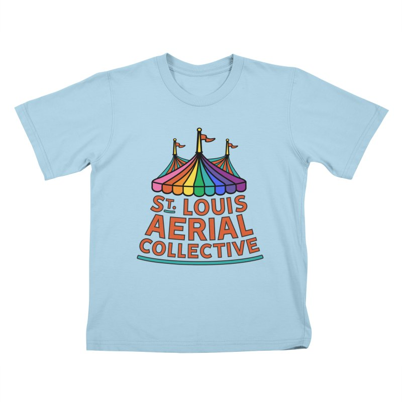 Color Rainbow Logo Kids T-Shirt by St. Louis Aerial Collective