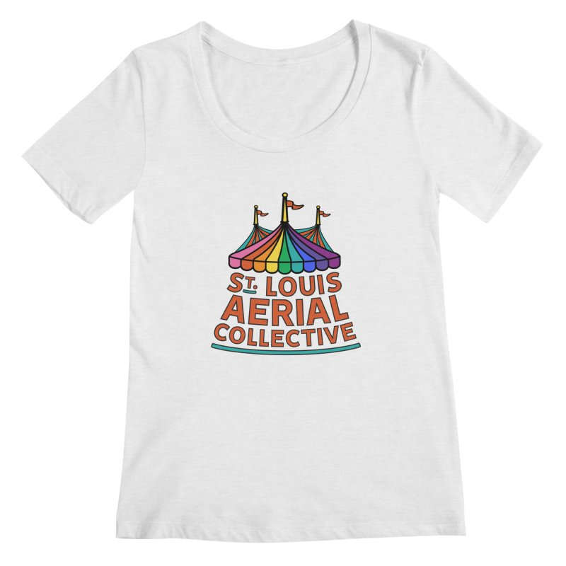 Color Rainbow Logo Women's Regular Scoop Neck by St. Louis Aerial Collective