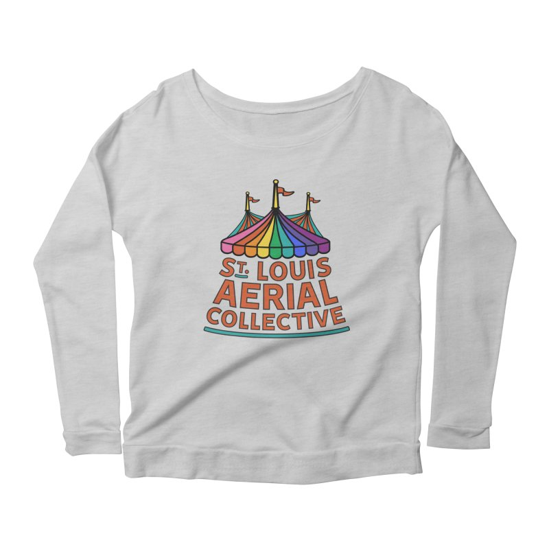 Color Rainbow Logo Women's Scoop Neck Longsleeve T-Shirt by St. Louis Aerial Collective