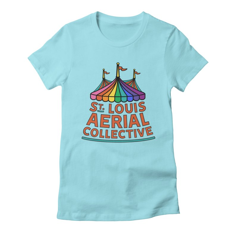 Color Rainbow Logo Women's Fitted T-Shirt by St. Louis Aerial Collective