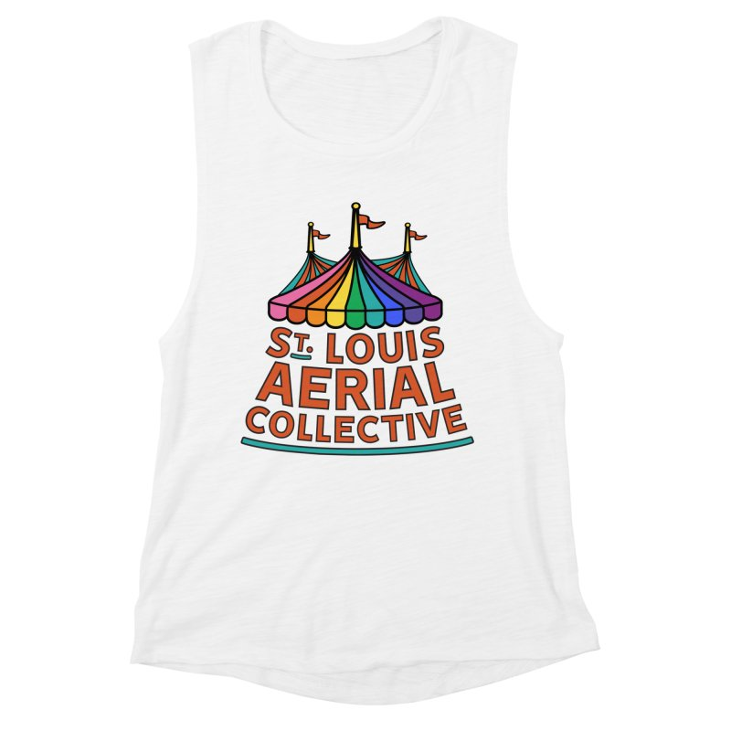 Color Rainbow Logo Women's Muscle Tank by St. Louis Aerial Collective