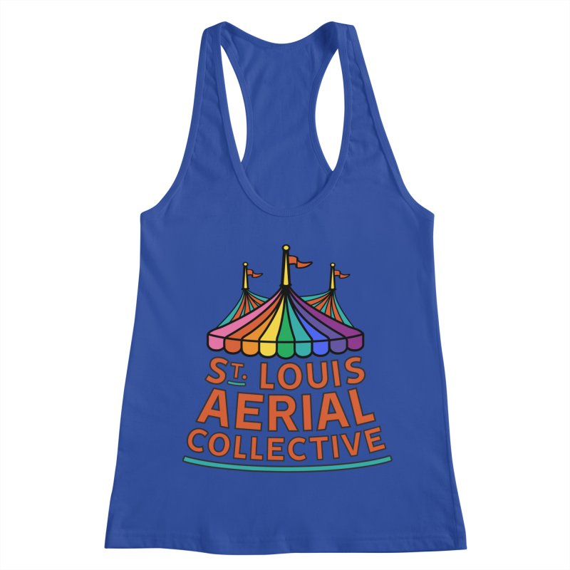 Color Rainbow Logo Women's Racerback Tank by St. Louis Aerial Collective