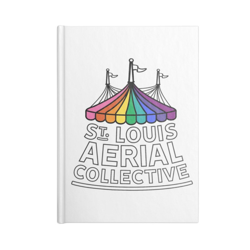 B&W Rainbow Logo Accessories Blank Journal Notebook by St. Louis Aerial Collective