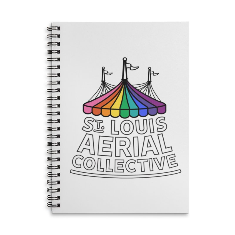B&W Rainbow Logo Accessories Lined Spiral Notebook by St. Louis Aerial Collective