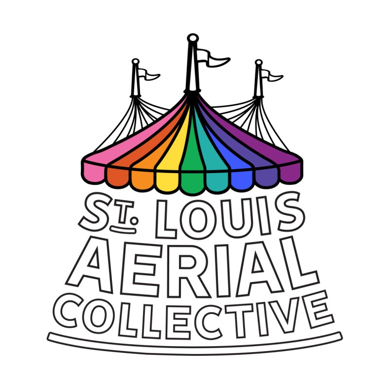 B&W Rainbow Logo by St. Louis Aerial Collective