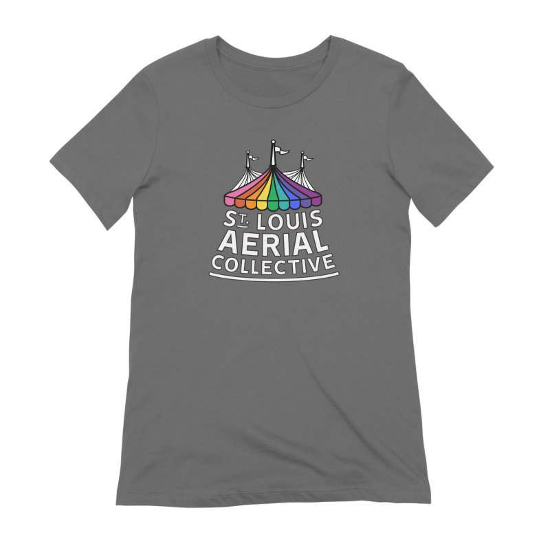 B&W Rainbow Logo Women's Extra Soft T-Shirt by St. Louis Aerial Collective