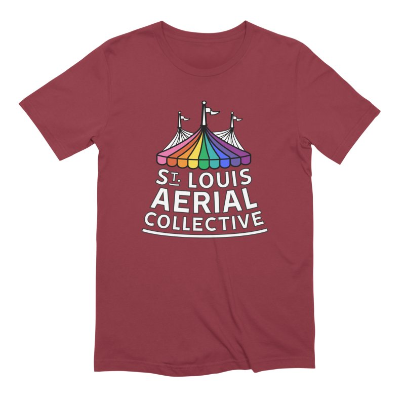 B&W Rainbow Logo Men's Extra Soft T-Shirt by St. Louis Aerial Collective