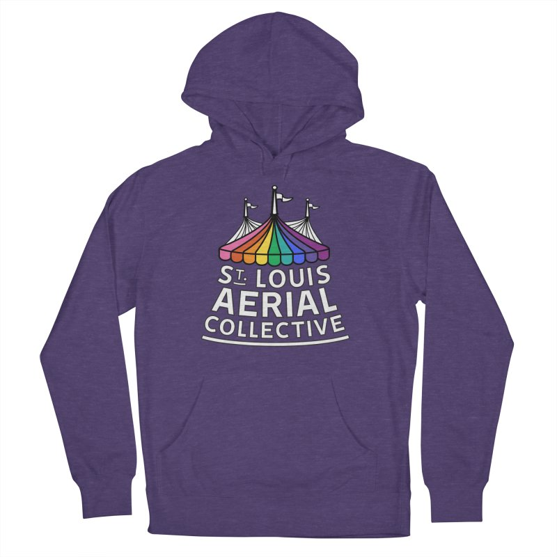 B&W Rainbow Logo Women's French Terry Pullover Hoody by St. Louis Aerial Collective