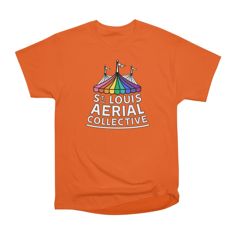 B&W Rainbow Logo Men's T-Shirt by St. Louis Aerial Collective