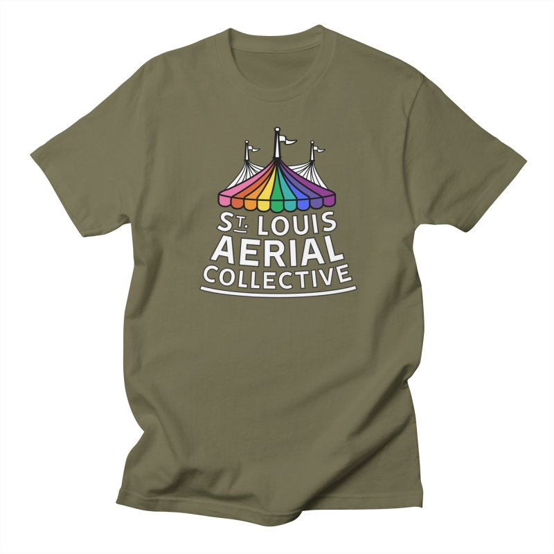 B&W Rainbow Logo Men's Regular T-Shirt by St. Louis Aerial Collective